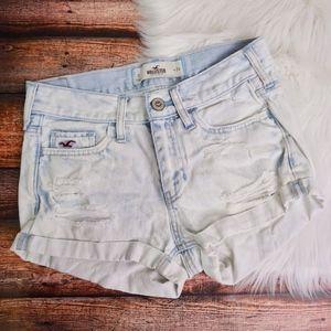 Hollister jean shorts sz 0 24w light blue ombre